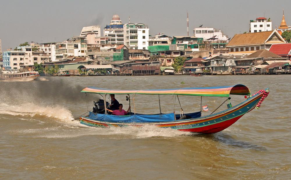 Thailand, Chao Praya - Wassertaxi
