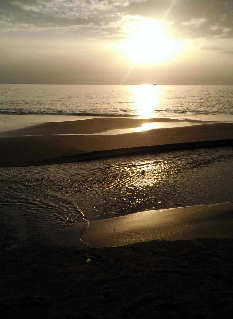 Thailand im Sonnenuntergang