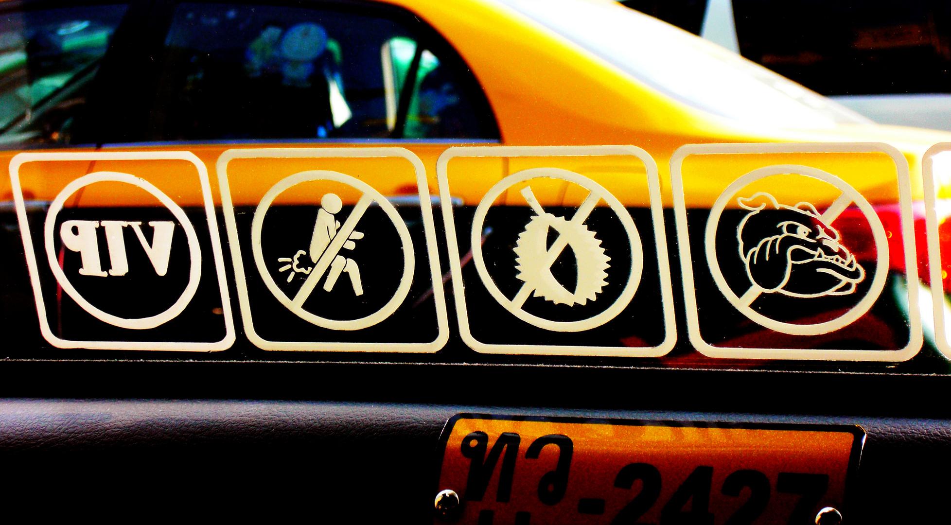 Thailand Taxi - Was man darf und was nicht!