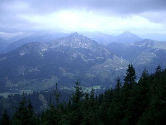 Thannheimer Tal von oben