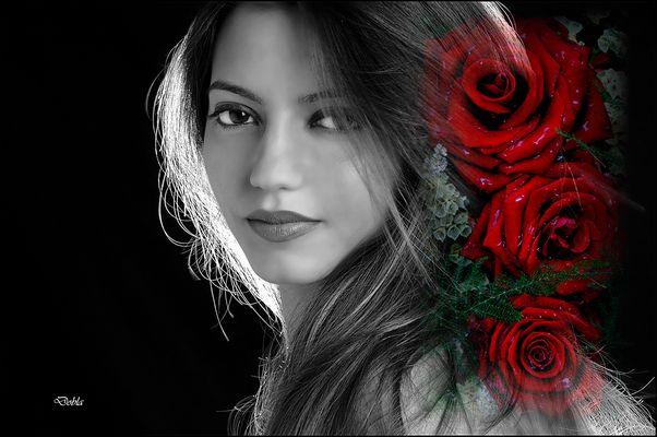 Thaynara 005 con flores de Gabriele Heinemann.