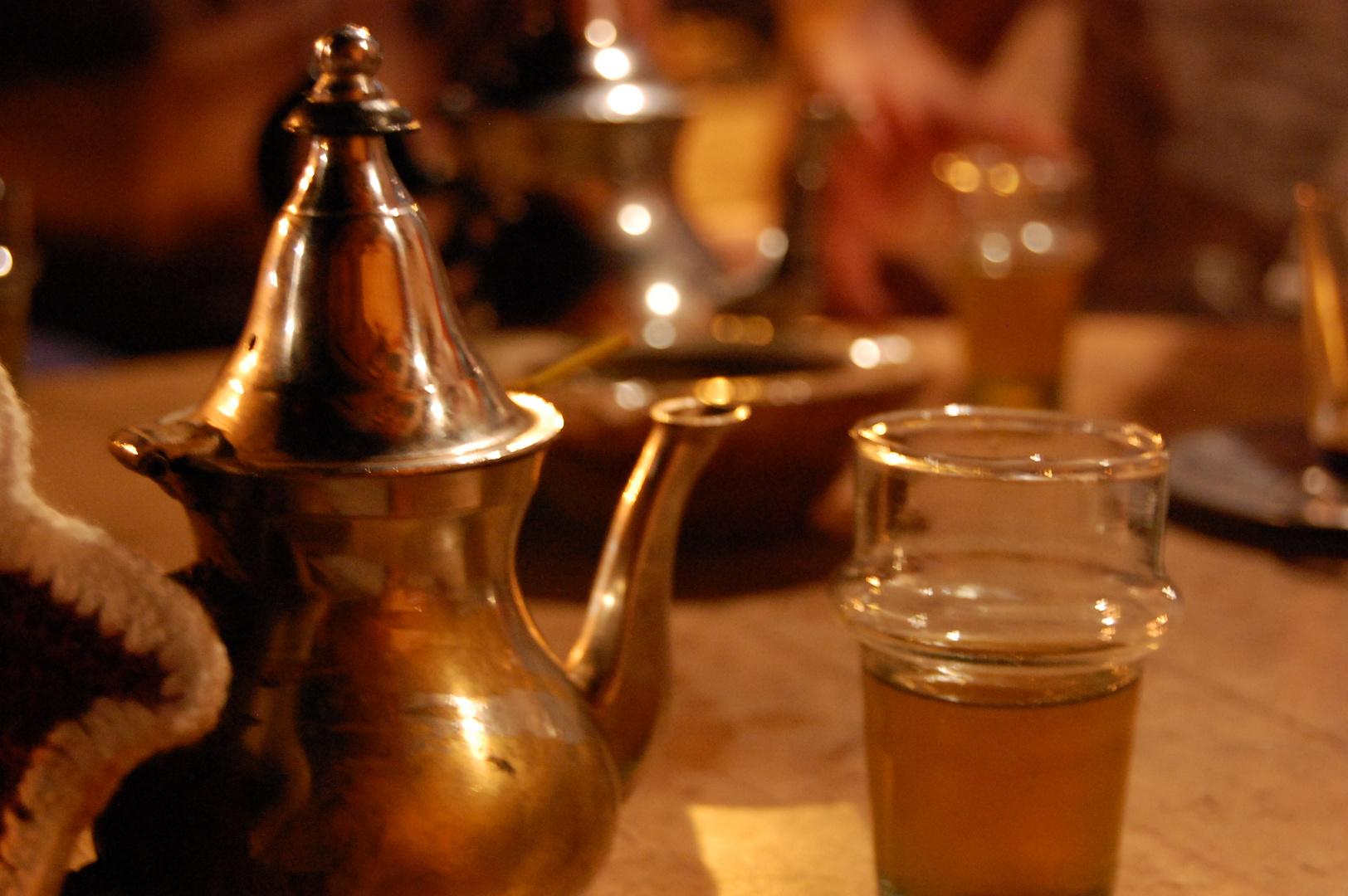 thé à la menthe Marrakech (café des épices)