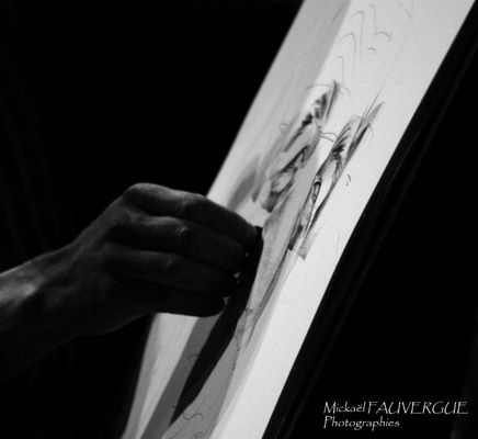 The artist. Black and white of course!