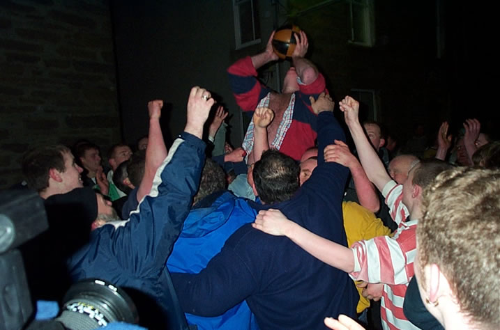 The Ba Game in Kirkwall / Orkney / Scotland