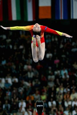 The balance beam queen - Li ShanShan at 40th world artistic gymnastic championship in stuttgart