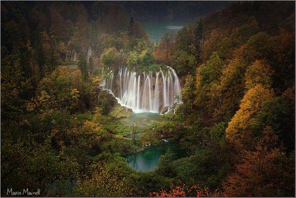 ** the big sprayer in autumn **