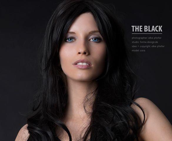 the black.