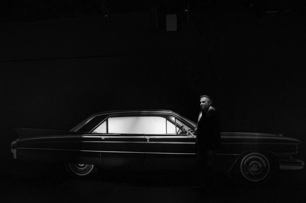 The black car #