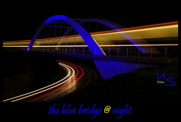 the blue bridge @ night