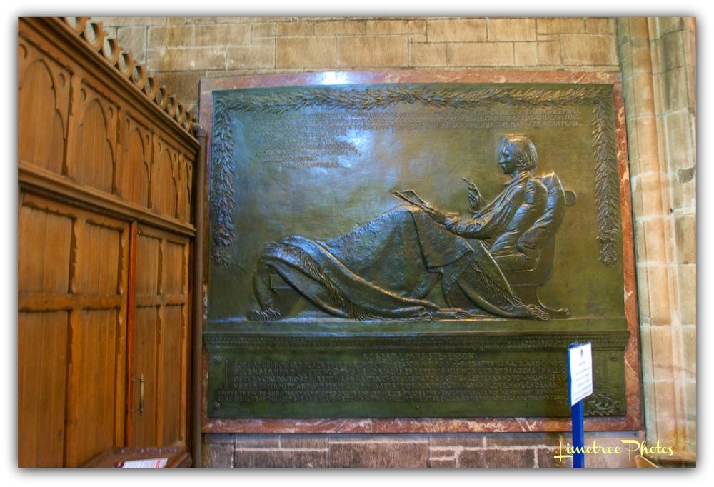 The Bronze Relief of Robert Luis Stevenson
