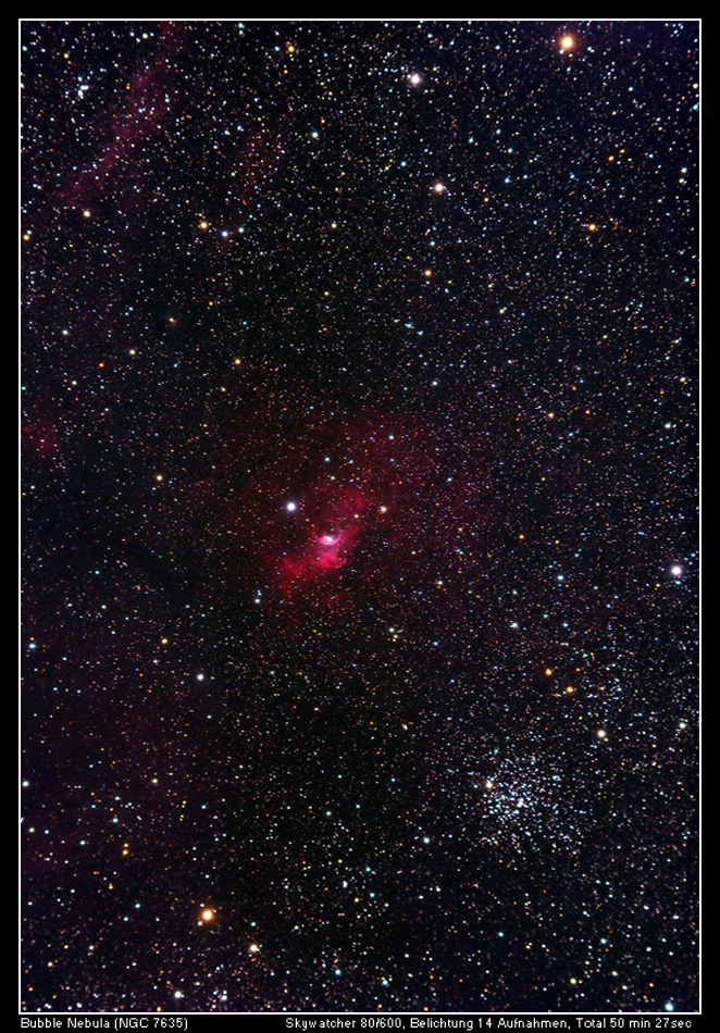 The Bubble Nebula meets M52