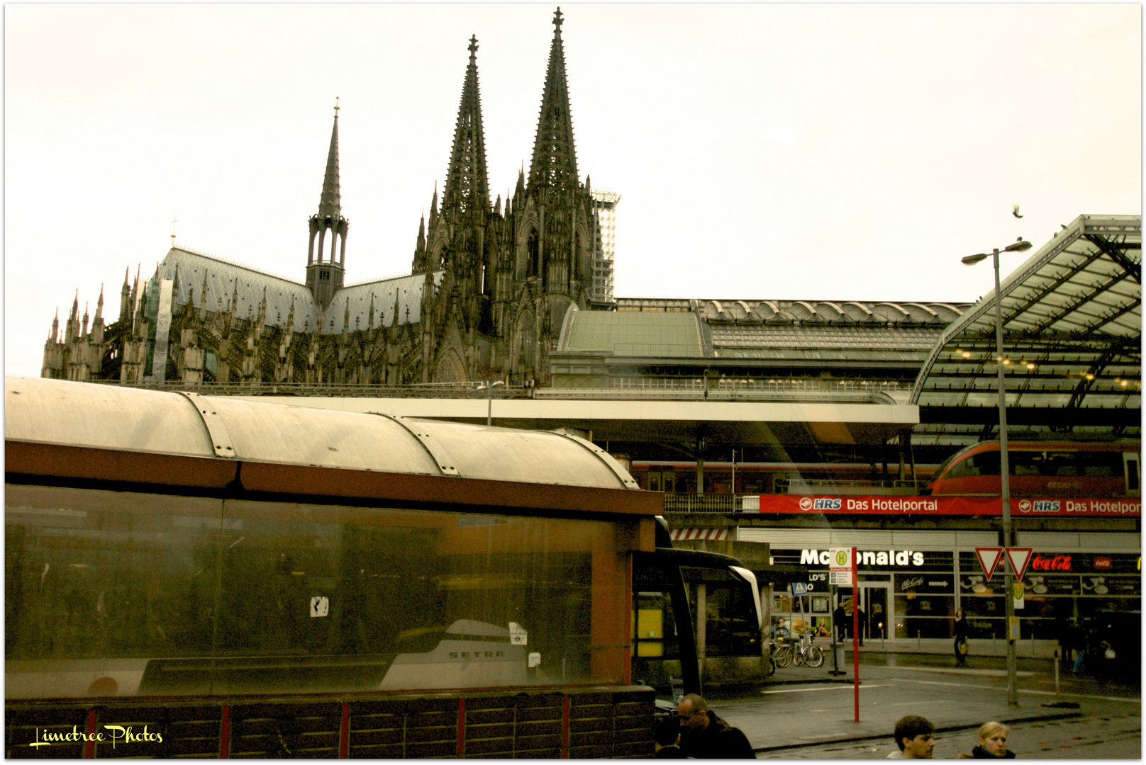 The Bus Station at Cologne Main Railway Station