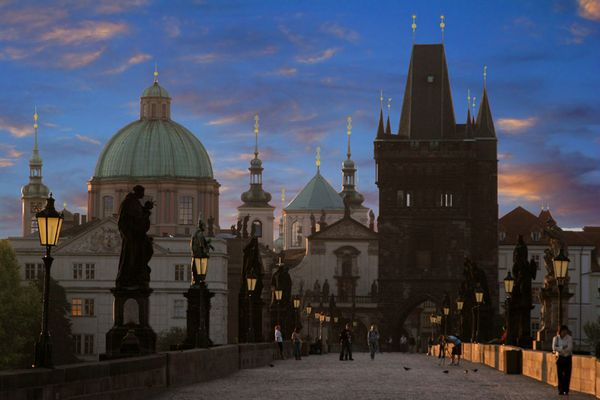 The Charles Bridge in a very Early Morning