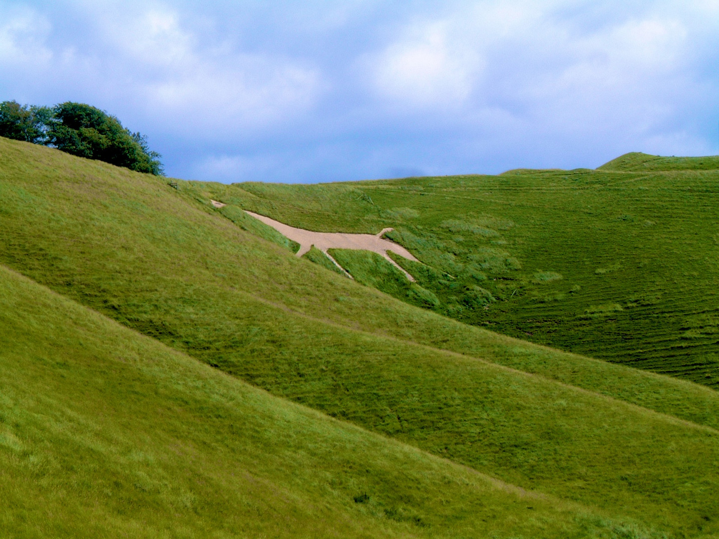 The Cherhill White Horse, Wiltshire, England