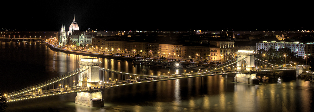 The classic Budapest night view