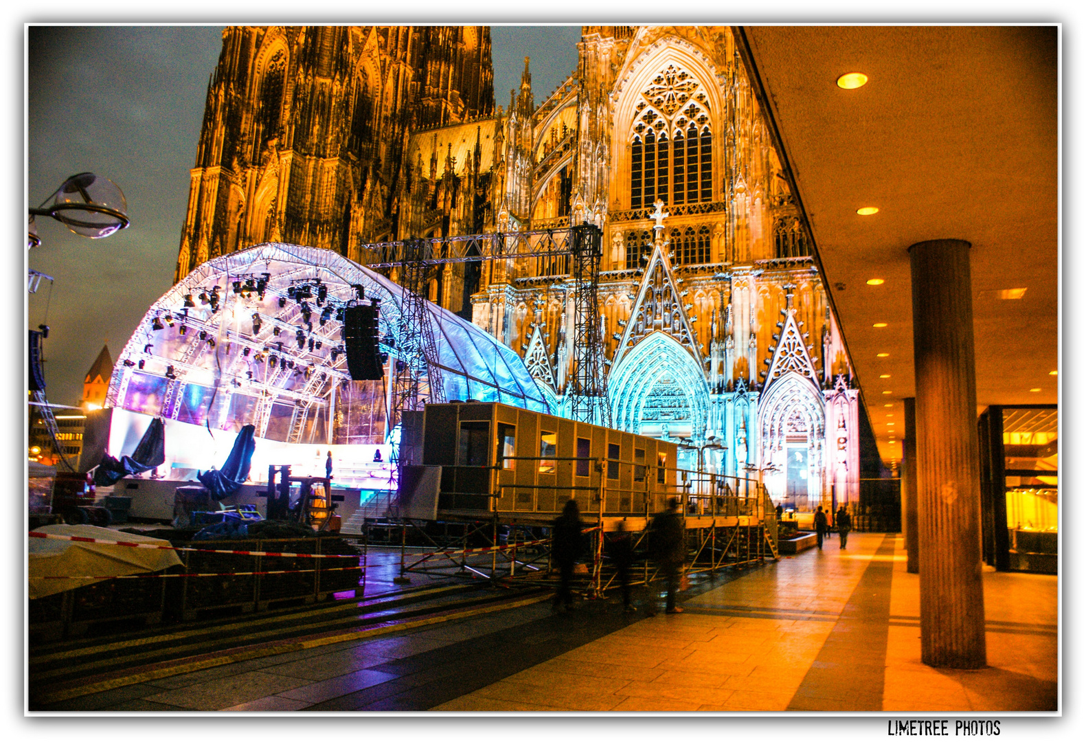 The Cologne Cathedral at Night
