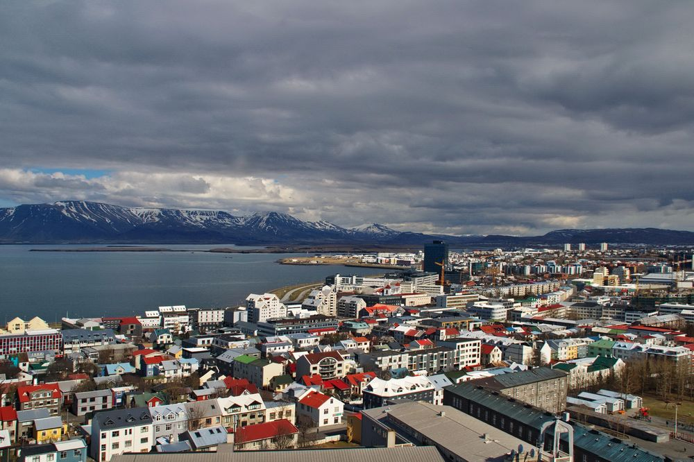the colors of Reykjavik