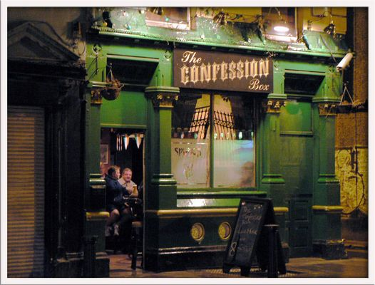 The confession box - Dublin by night