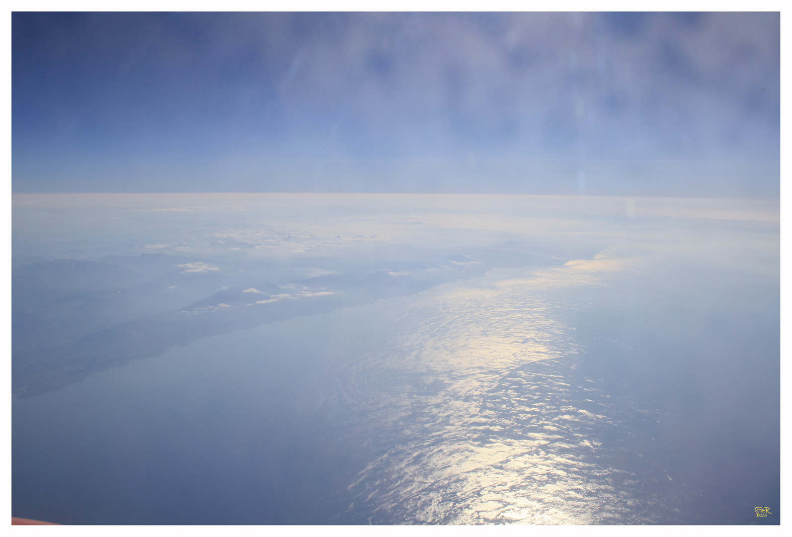 The curvature of the Earth...