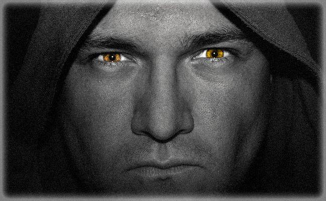 The dark monk ...