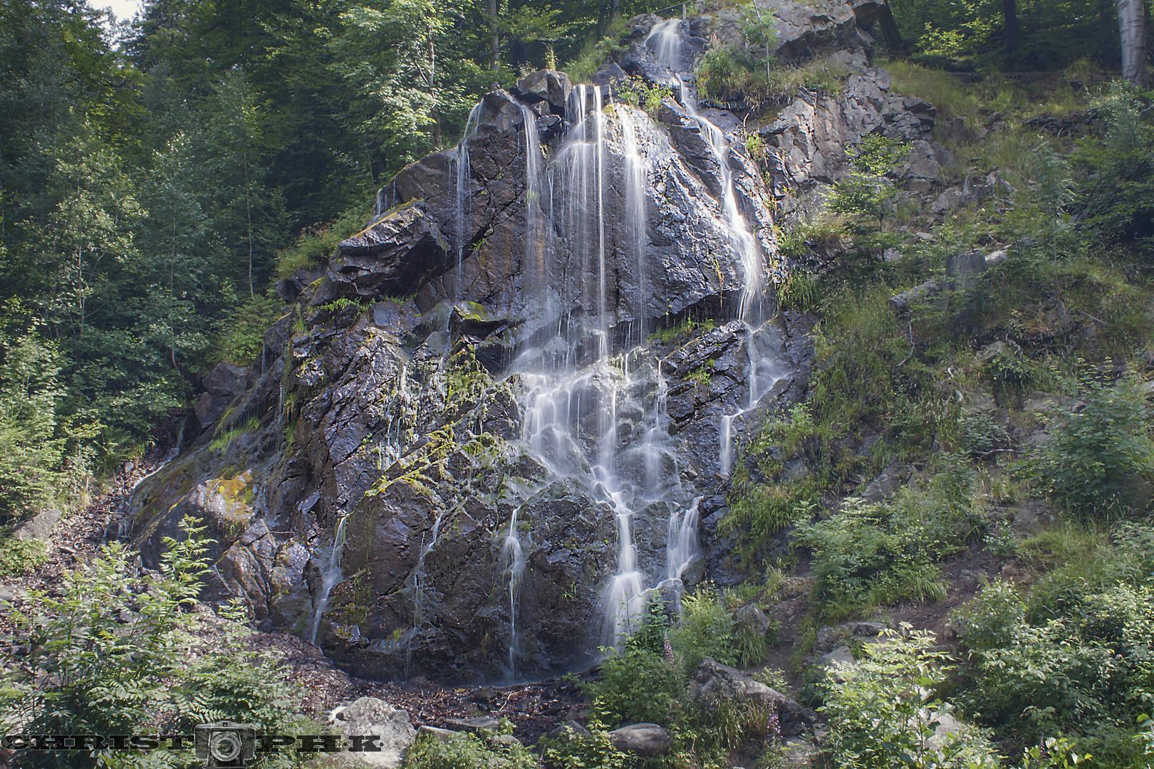 the dark waterfall