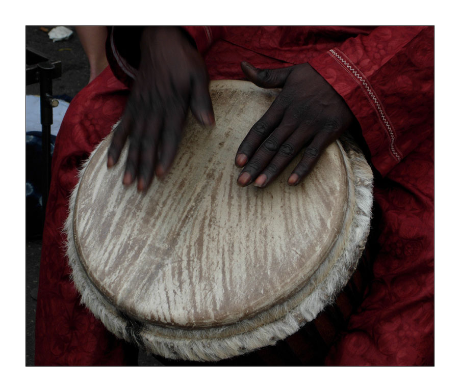 the djembe player