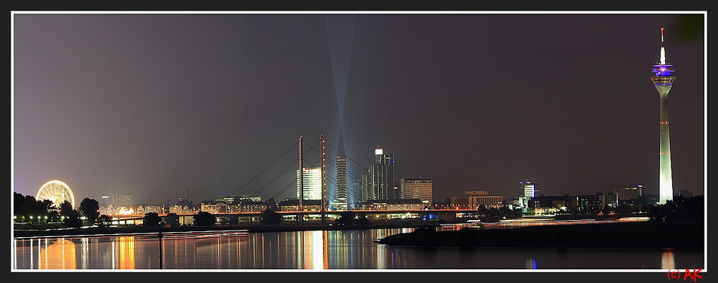 The Düsseldorf Skyline by night