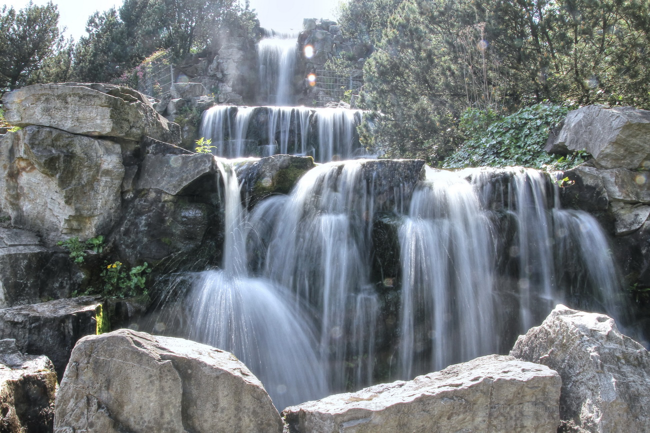 the falling water