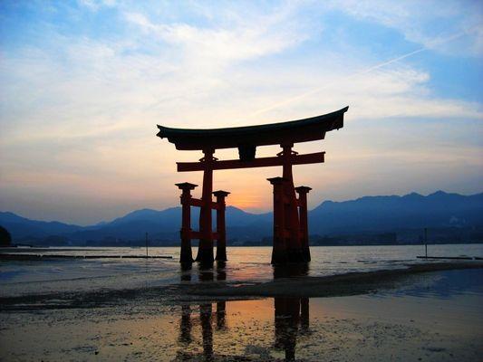 The famous Miyajima Torii (Sunset)
