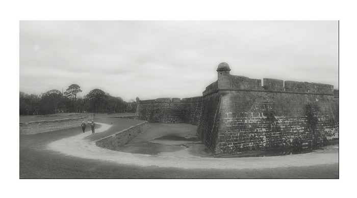 """The Fort Wall"" - St. Augustine, Florida - Winter 2005"
