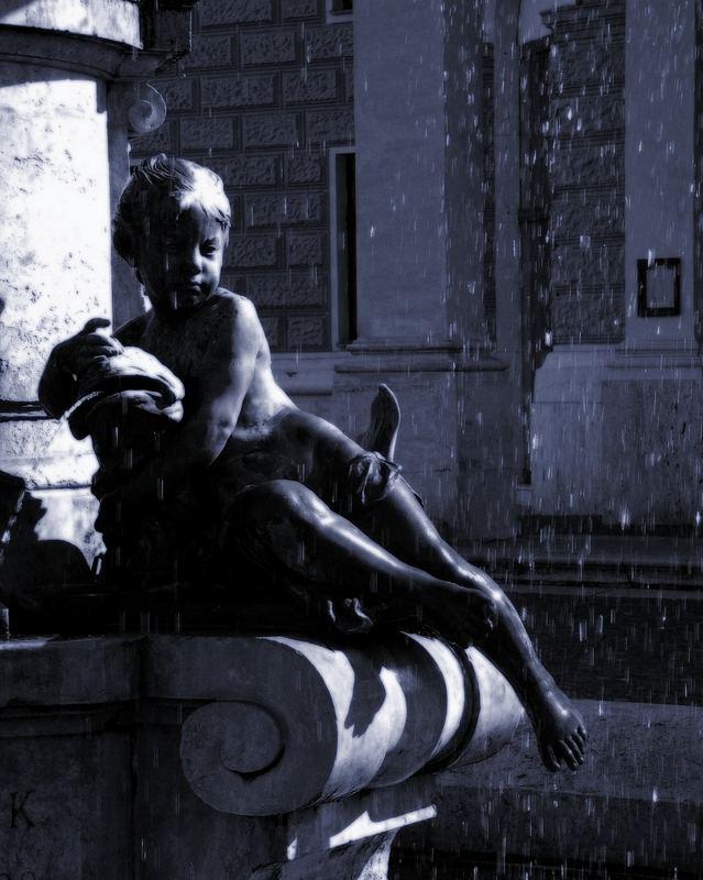 The fountain kid