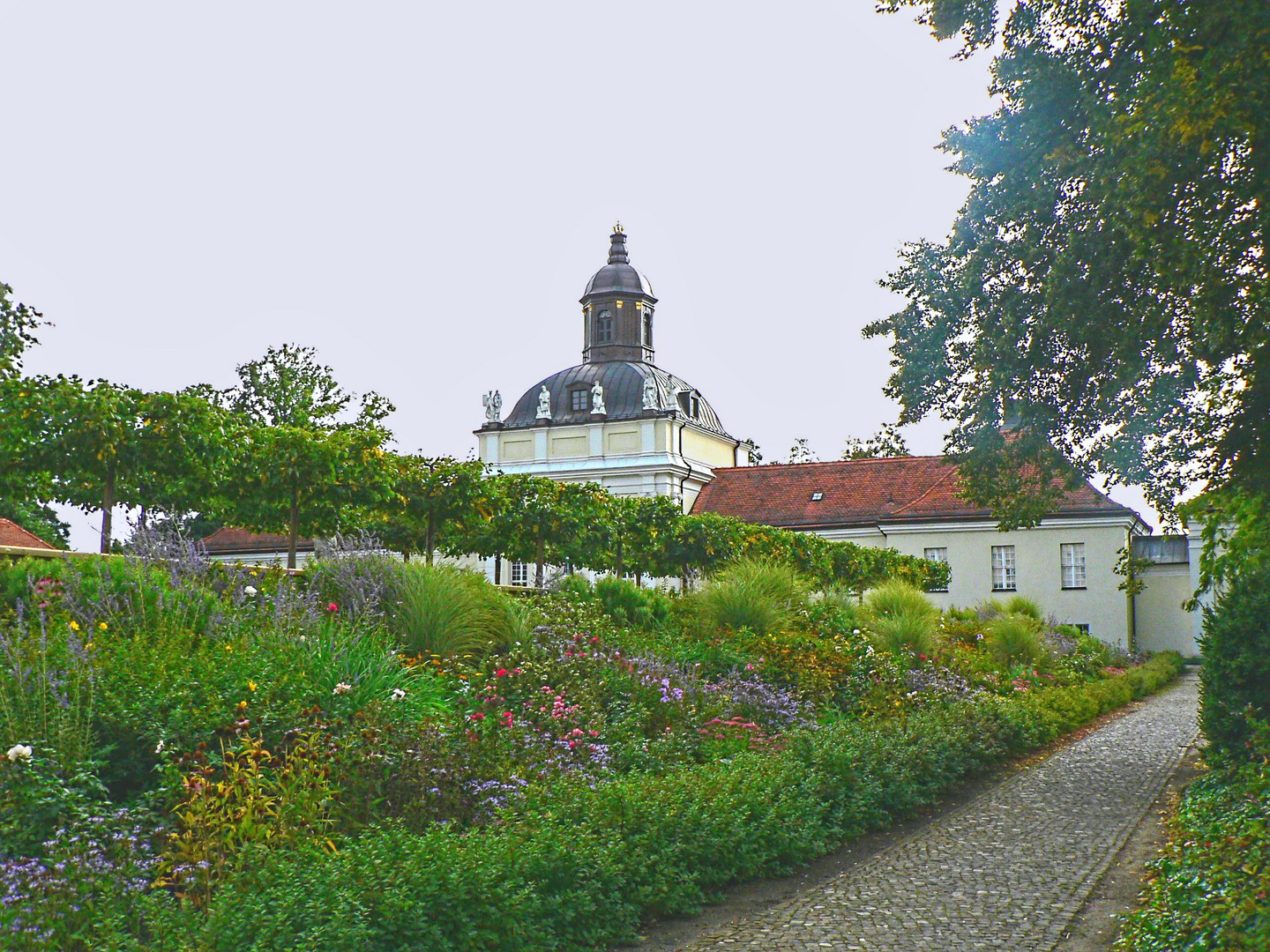 The Garden on Koepenick Castle Island with the Castle Church