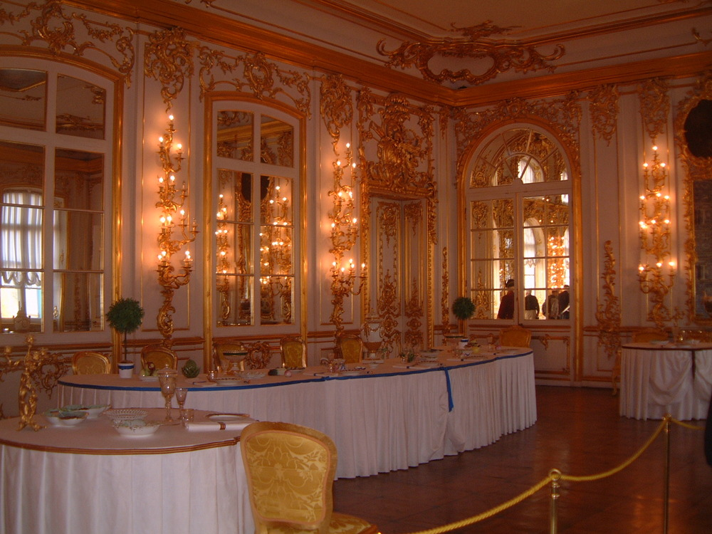 The Gentlemen Dining Hall in the Great Catharine Palace, Zarskoje Zelo