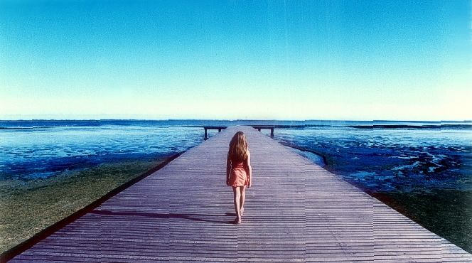 The girl and the docks