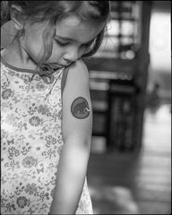 The girl with the Mammut tattoo