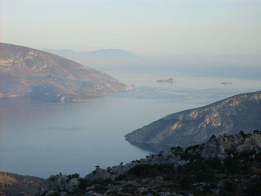The Gulf ofd Aspra spitia in Viotia In The Korinthian Gulf