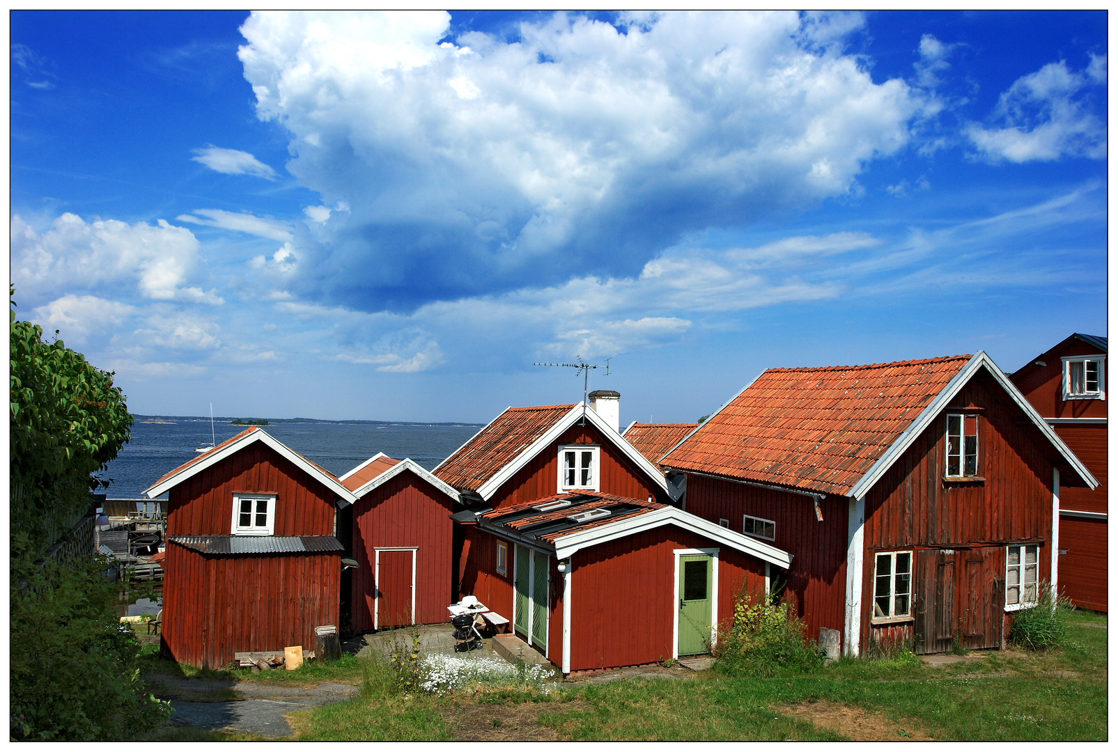The Houses of Sandhamn in the Stockholm Archipelago