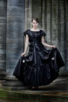 the lady in her black dress