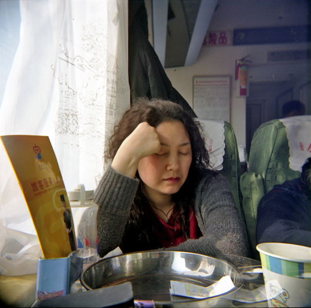 The Lady on the Train . Jinan to Beijing, 2007