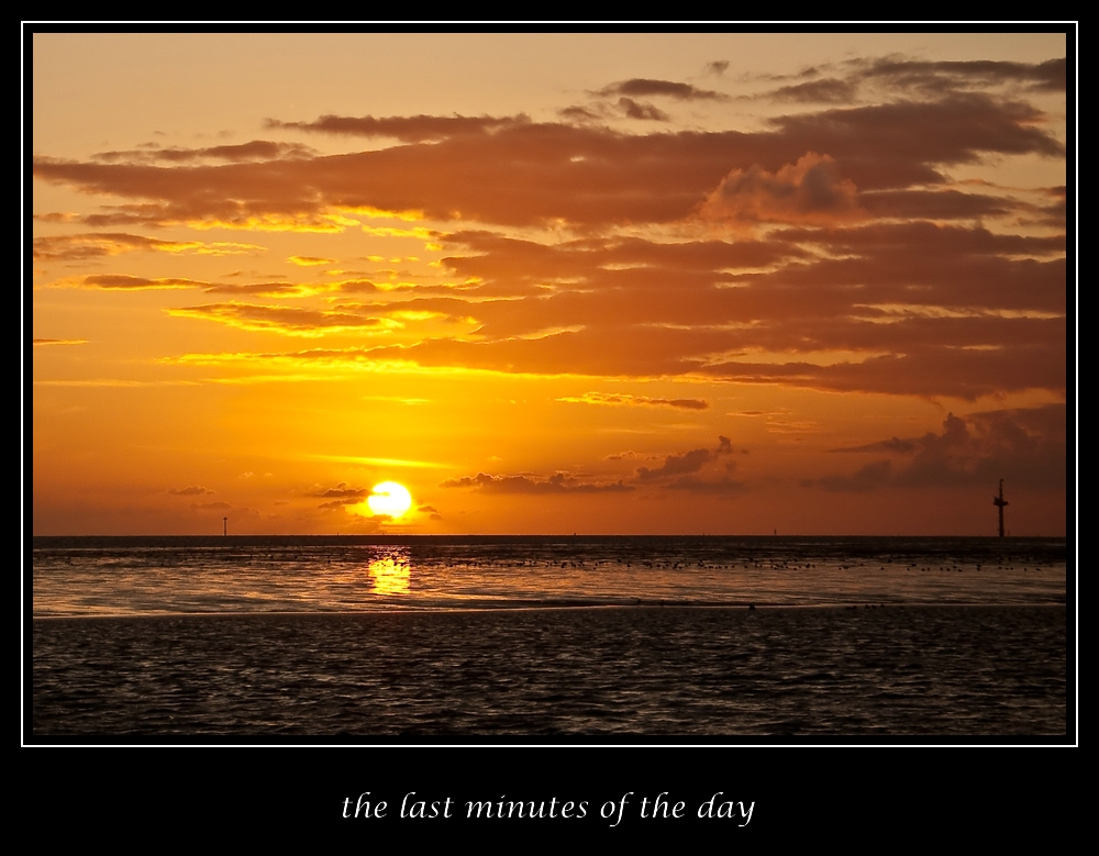 the last minutes of the day