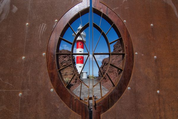 The lighthouse behind the closed door