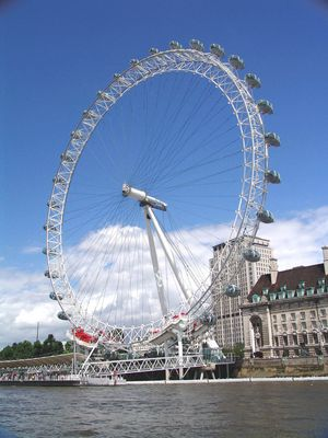 The London Eye as viewed from The River Thames