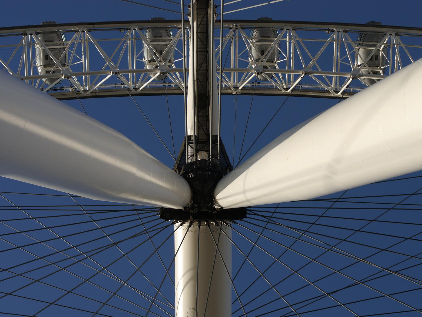 The London Eye - Die vermutliche größte Radnarbe der Welt