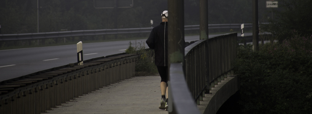 the lonely jogger