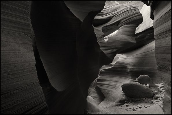The Lower Antelope Canyon