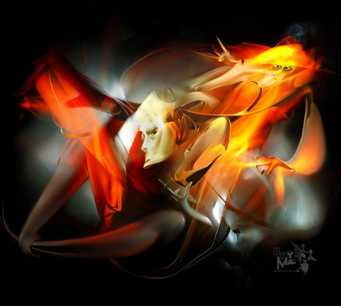 "The mad artist (""LightGraphic - Light move 2009"")"