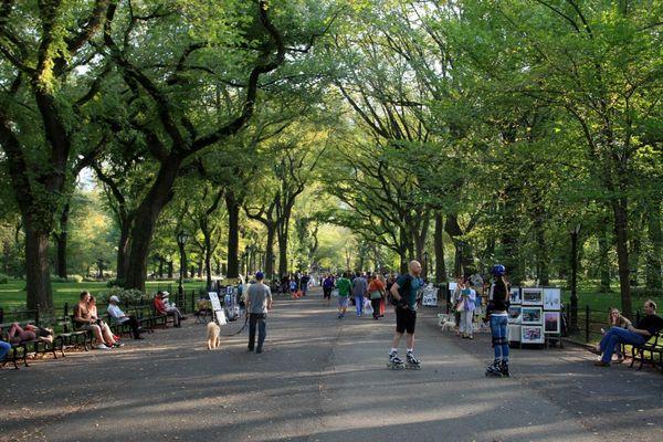 """The Mall"" im Central Park an einem Septembersonntagnachmittag 2014"