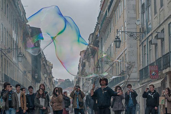 The Man of soap bubbles