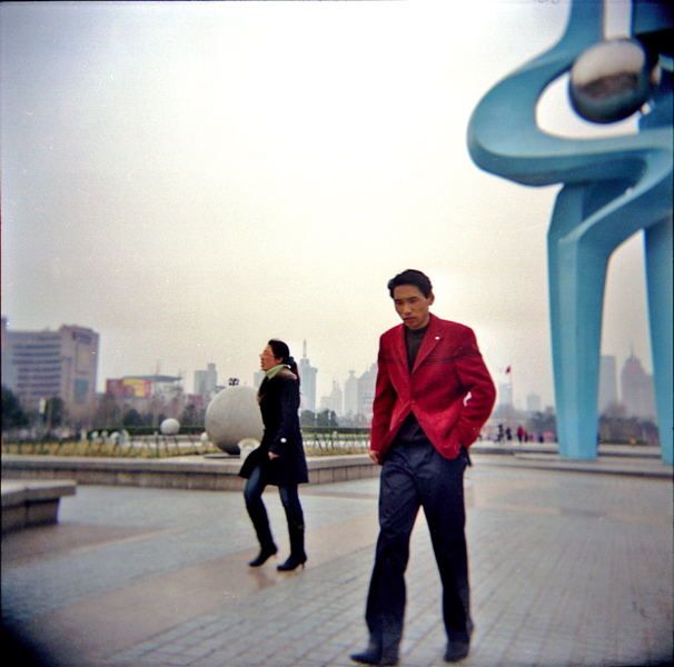 The Man on Silver Plaza . Jinan 2007