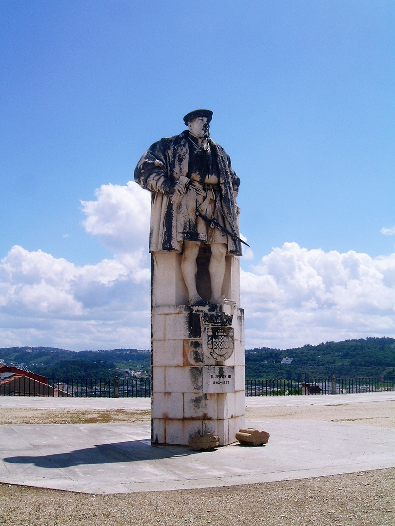The Monument of King Joao III. in Coimbra University